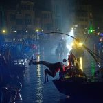 VENEZIA  27/01/18 - carnevale 2018 - spettacolo sull'acqua a cannaregio©Vision/vela